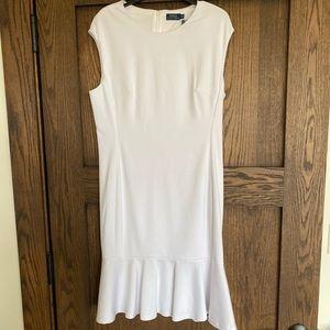 Ralph Lauren White Sleeveless Dress NWT Lined S 14